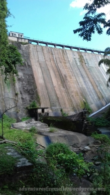 The Hermitage Dam and Reservoir from below