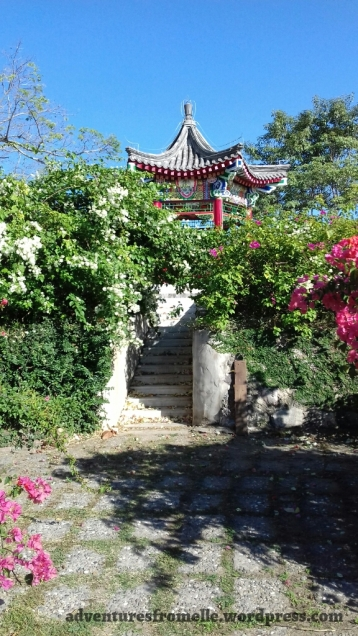 Chinese pagoda at Harmonious Enjoyment Garden
