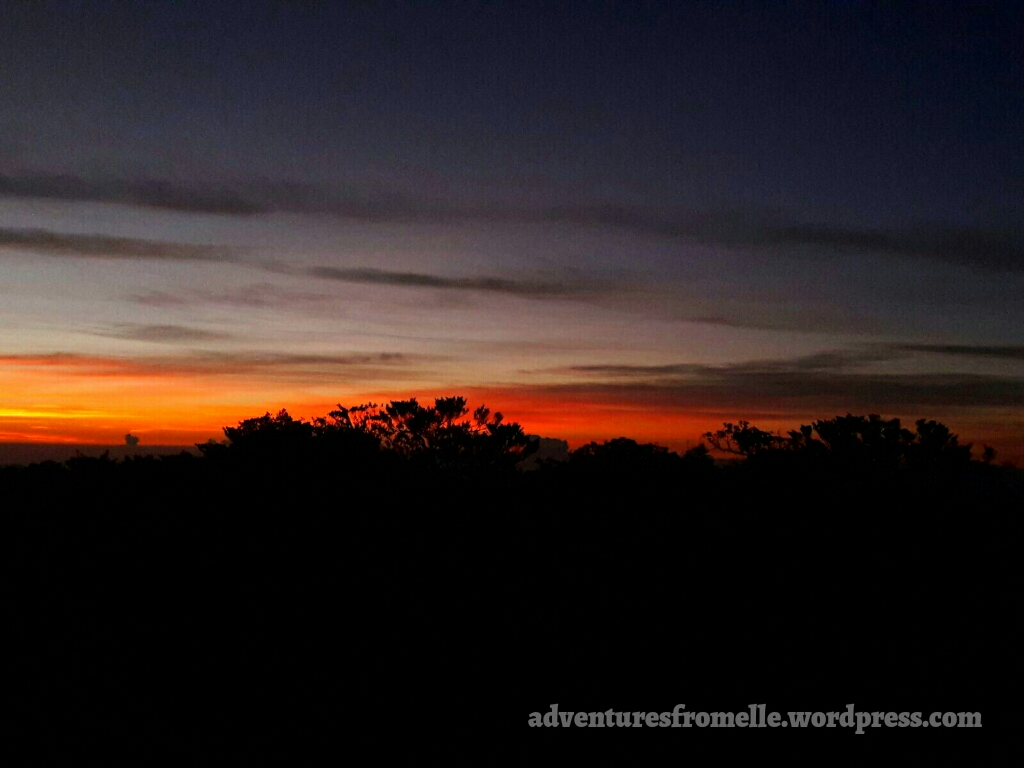 sunrise at peak