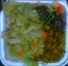 Potato salad (no mayo), BBQ veggie balls, curried lentils and tossed salad for $380.00
