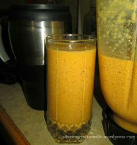 mango nut smoothie