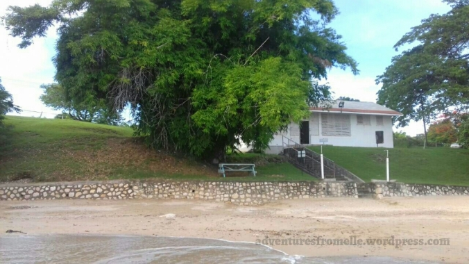 UWI lyssons beach changing rooms