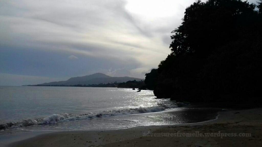 uwi lyssons beach near sunset