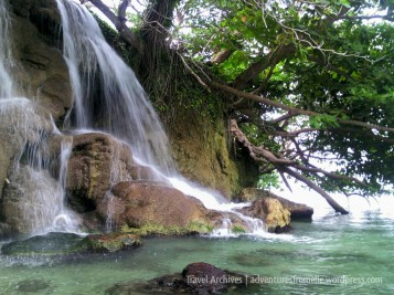 One of three falls at Little Dunn's River