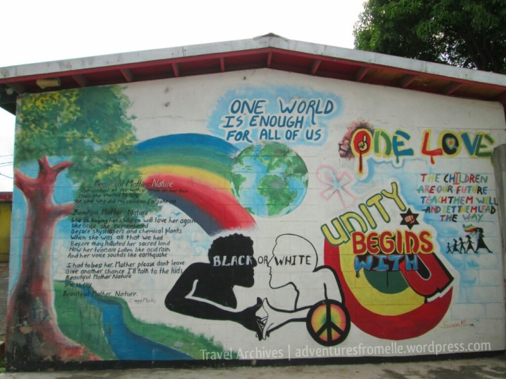 Some of Tuff Gong Studio's many murals