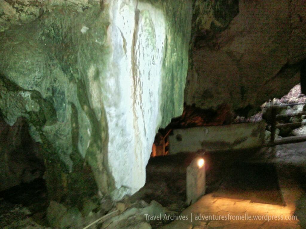 glistening stalactite