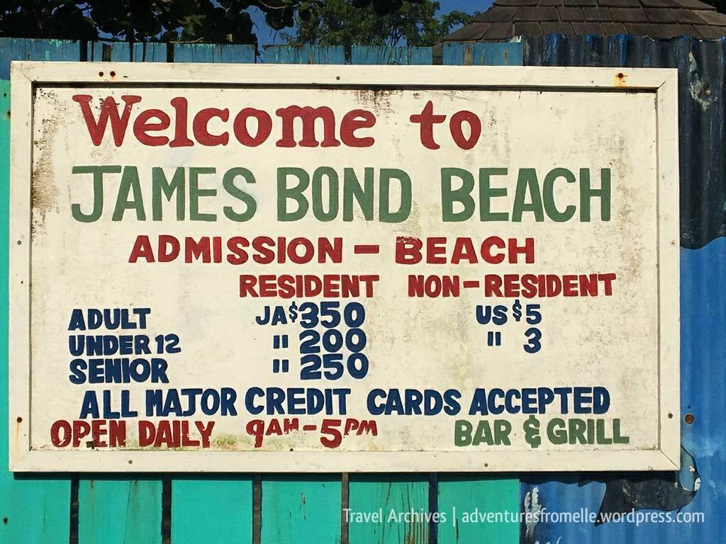 admission prices-james bond beach