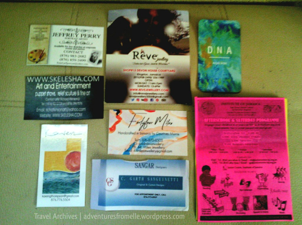 business cards-liguanea art festival 2017