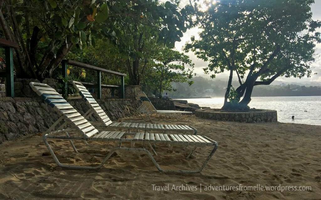 deckchairs on james bond beach