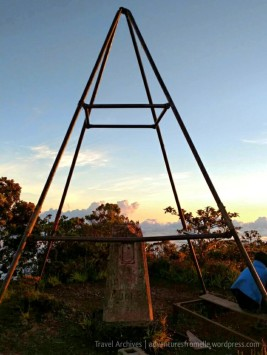 Trig station marking Jamaica's highest point above sea level