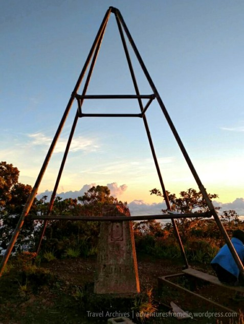 Trig station marking Jamaica's highest point above sea level