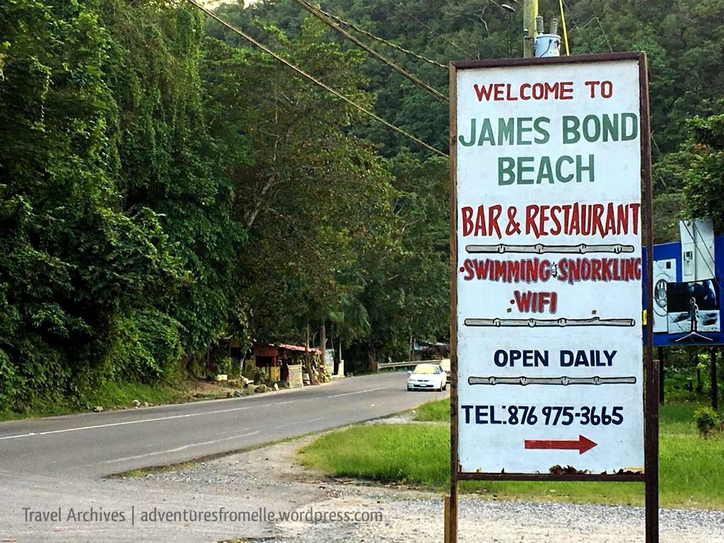 welcoming sign james bond beach