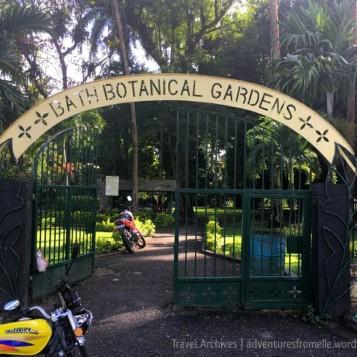 Entrance to the Bath Botanical Gardens