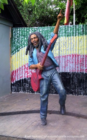 Bob Marley statue at Trench Town Culture Yard