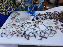 Bead jewelry from the Charles Town Maroons