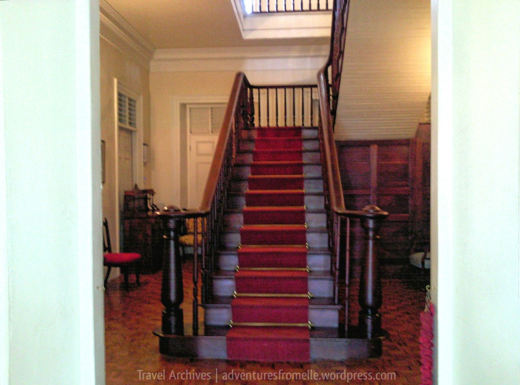 mahogany staircase-devon house mansion