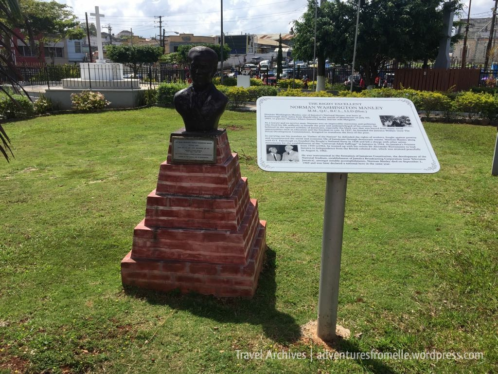 norman manley bust- cecil charlton park