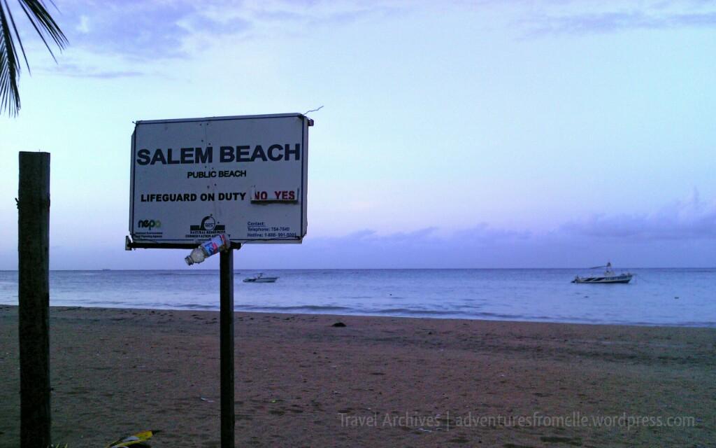 sign at salem beach