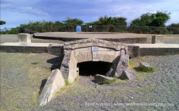 Entrance to Fort Charles' battery, the storehouse for heavy artillery