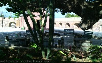 Shady seats under the guango tree