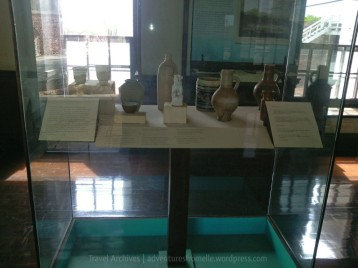 Museum display of unearthed artifacts