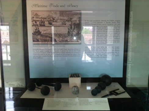 The cannonballs and explosives used at Fort Charles