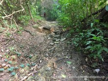 rocky trail to kwame falls