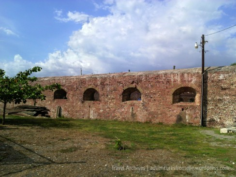 Strong brick walls which outlasted the 1692 quake