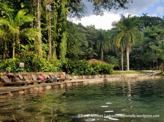 Beautiful natural mineral water-fed pools at YS