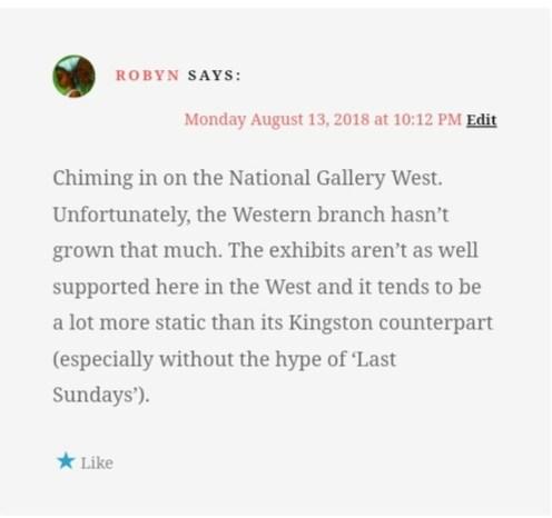 Blog comment on NatGalKgn