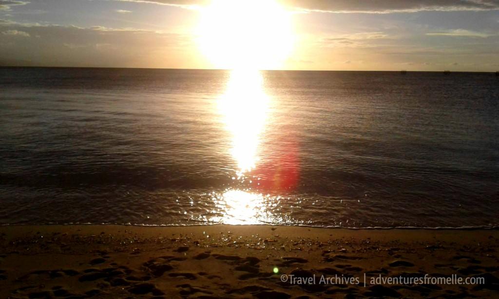sunset dead end beach