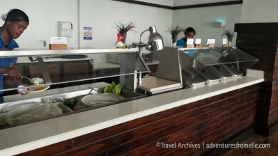 serving food-puerto seco beach
