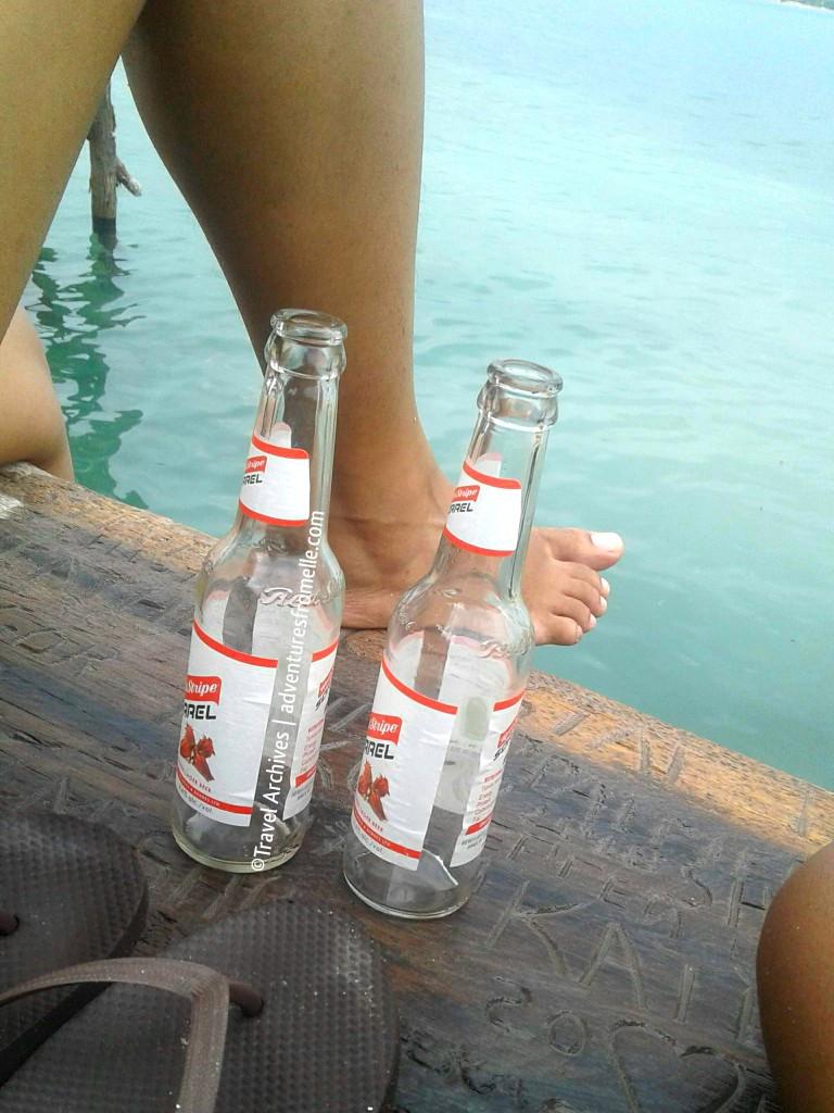 pelican bar- empty bottles