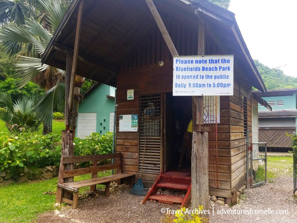 ticket booth-bluefields beach