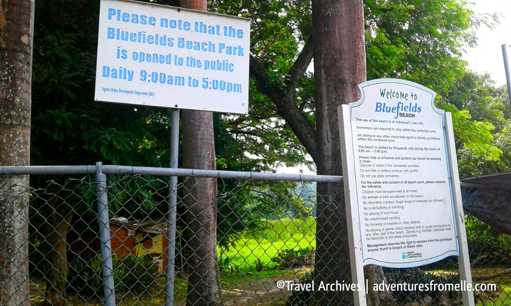 welcome to bluefields beach