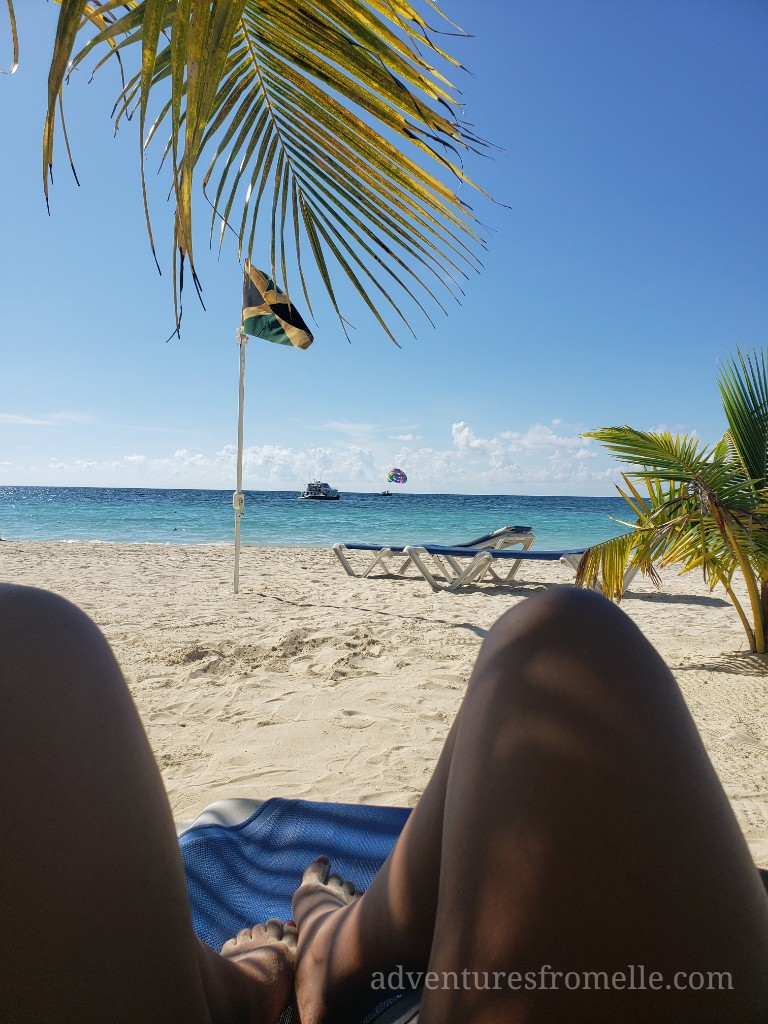 enjoying negril beach