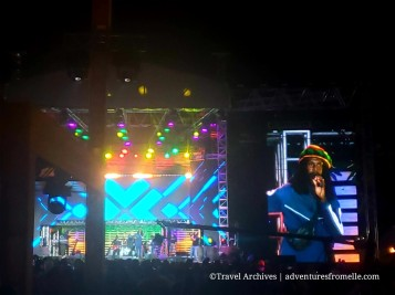 Runkus, an upcoming musician, was brought on stage by Kymani Marley.